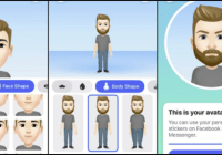 how to use facebook Avatar