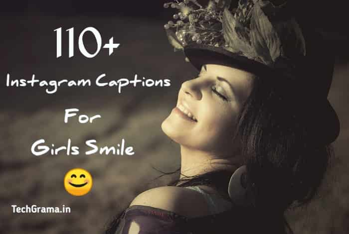 instagram captions for girls Smile