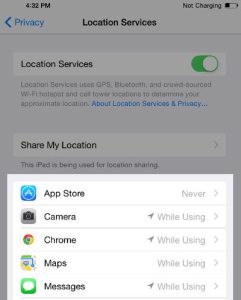iphone location service1- Boos iPhone's battery life in IOS 8