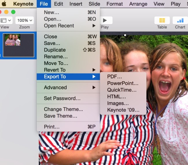 create Microsoft office compatible files in Mac for KeyNote