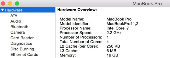 How to check if MacBook is dual core and Quad core