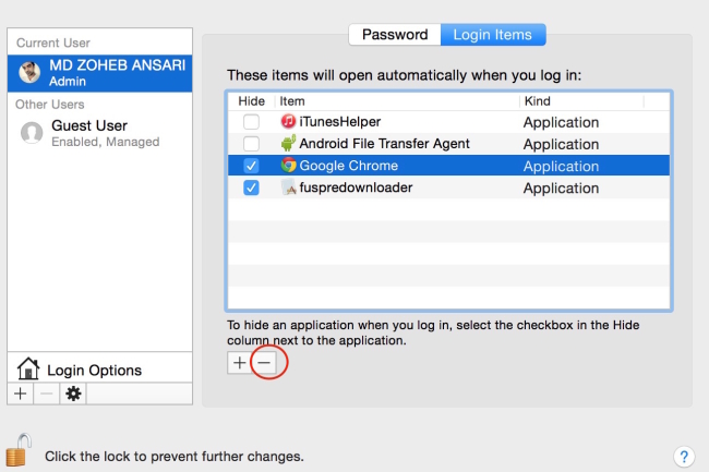 How to remove Auto Startup Apps from MacBook