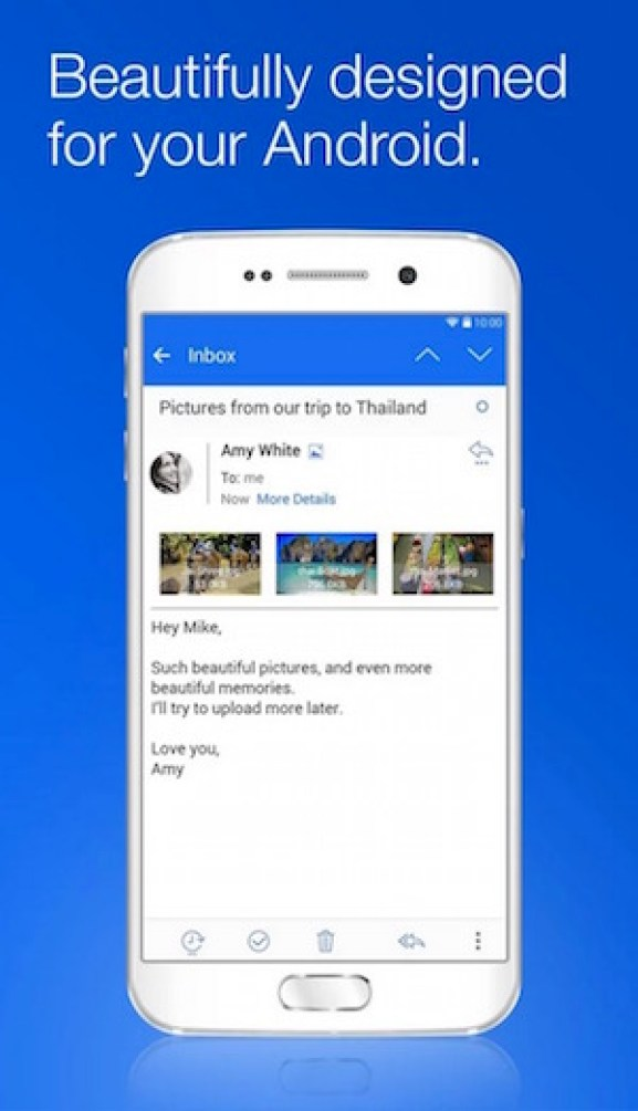 Best free email apps for Android to use multiplace email accounts blue mail