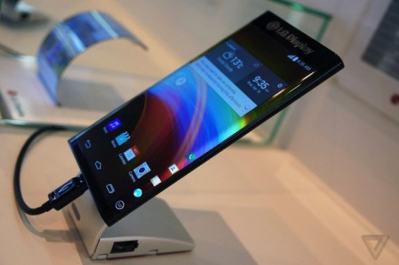 LG curved display mobile