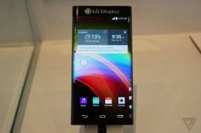 LG curved edge phone prototype