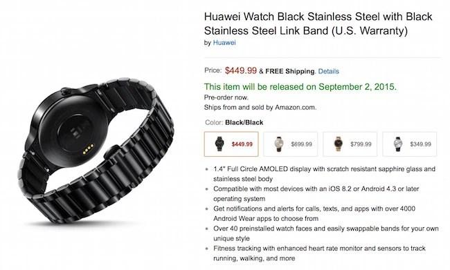 Preorder Huawei Smartwatch in Black Color