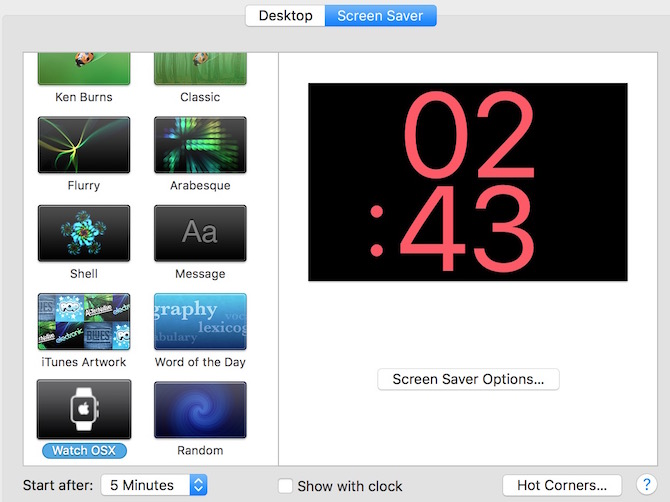 Apple Watch Screen Saver for mac image