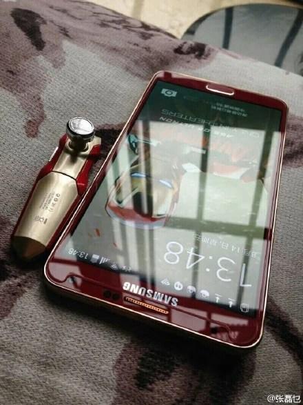Galaxy Note 3 Iron Man design