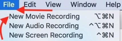 New Movie Recording