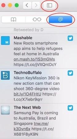 Adding Feed in mac Safari