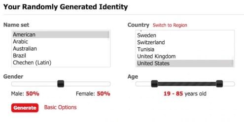 Fake ID, Data and Name Generator, Useful and Fun
