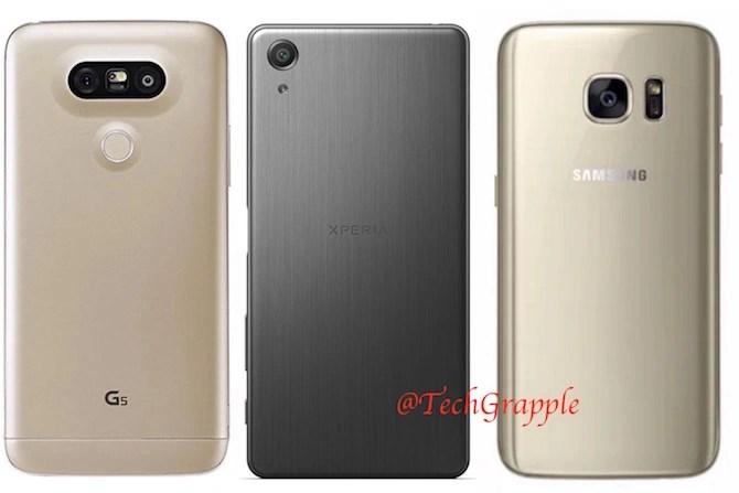 LG G5 vs Xperia X Performance vs Galaxy S7