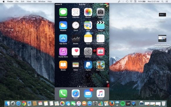 Record iPhone and Mac Screen together
