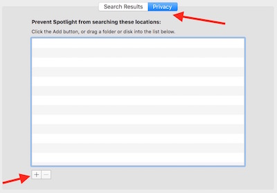 Adding item for spotlight search exclusion