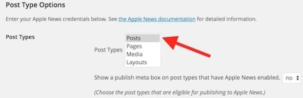Apple News Post Type