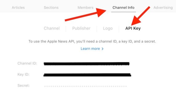 Getting API from apple