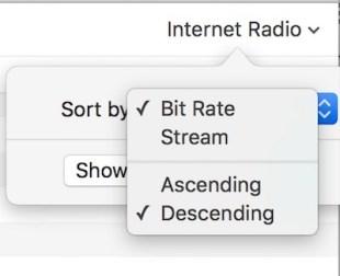 Sorting Bit Rates
