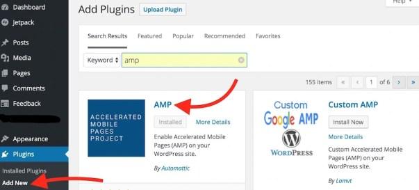 Adding AMP Plugin to WordPress