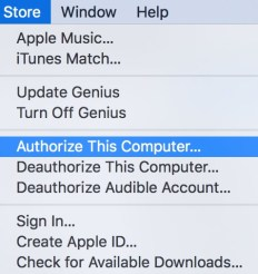 Authorize computers for iTunes
