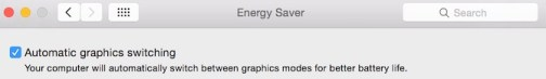 Enable Automatic Graphic Switching