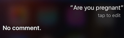 Pregnent Siri