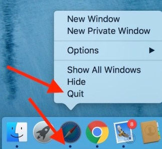 Quiting app on Mac