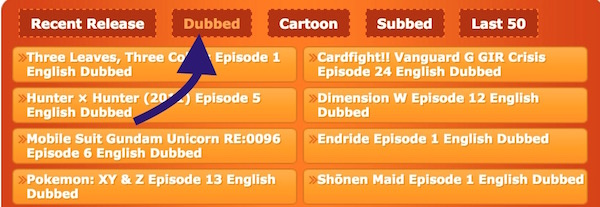Dubbed Anime