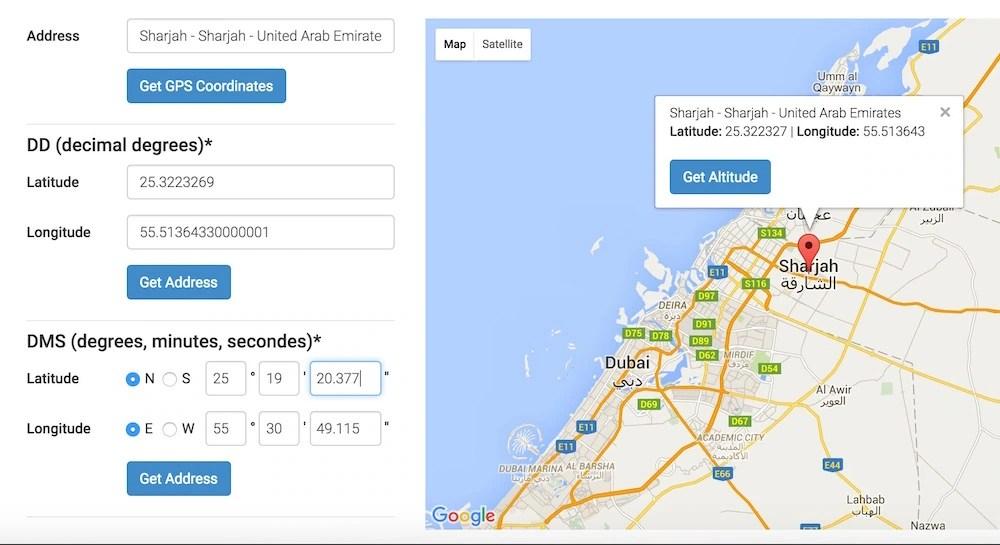 GPS Coordinates online