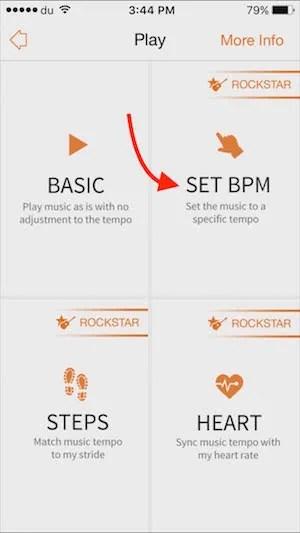Music app for Excercise