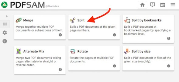 PDFSam Split