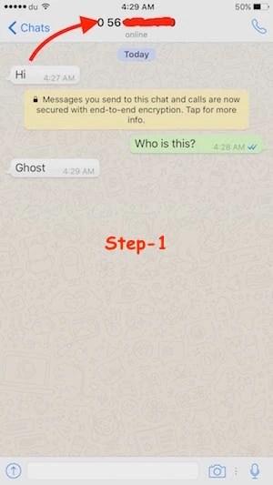 Block WhatsApp contact