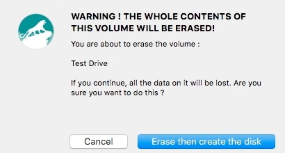 Erase and create Disk