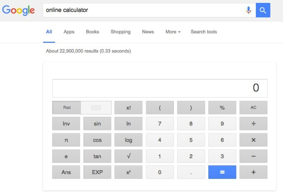 Google Online Calculator