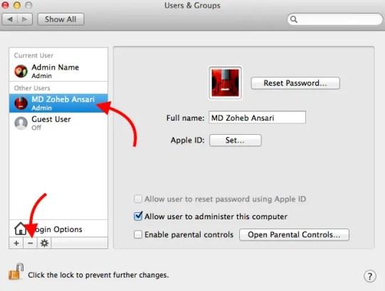 Remove Admin from Mac