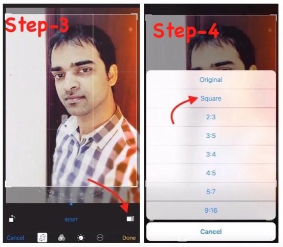 Square image on iPhone ipad ipod