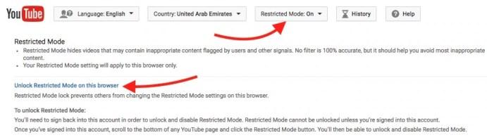 Unlock Resticted Mode