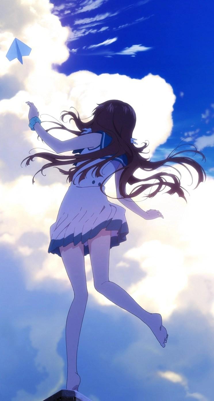 Anime girl kite whatsapp chat theme
