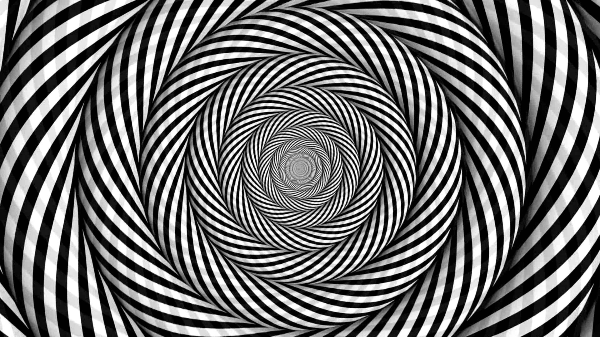Cool Trippy Wallpaper Black and White
