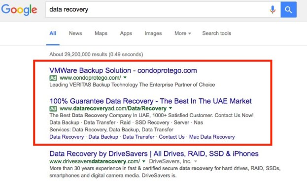 Data recovery PPC