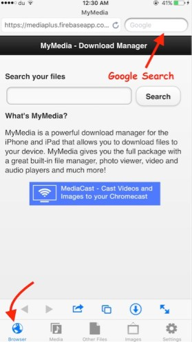 Download Mp3 to iPhone Step 1