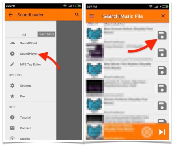 Downoad Sound Cloud Music to Android