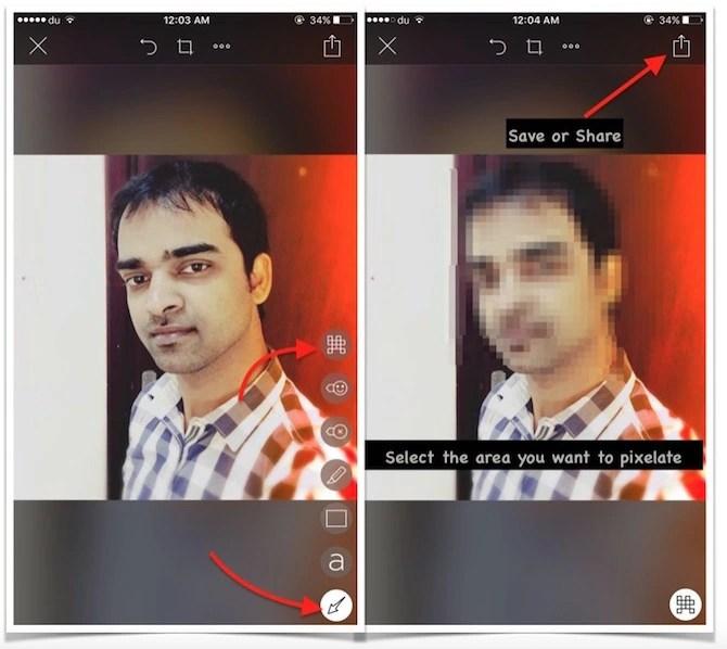 Pixelate image on iPhone