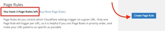 Setting Up Page Rule