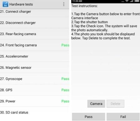 Test Xiaomi Phone Hardware