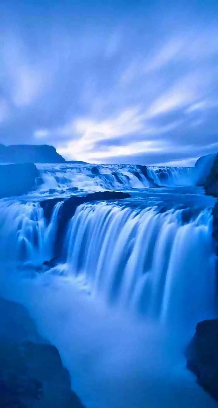 Waterfall whatsapp background