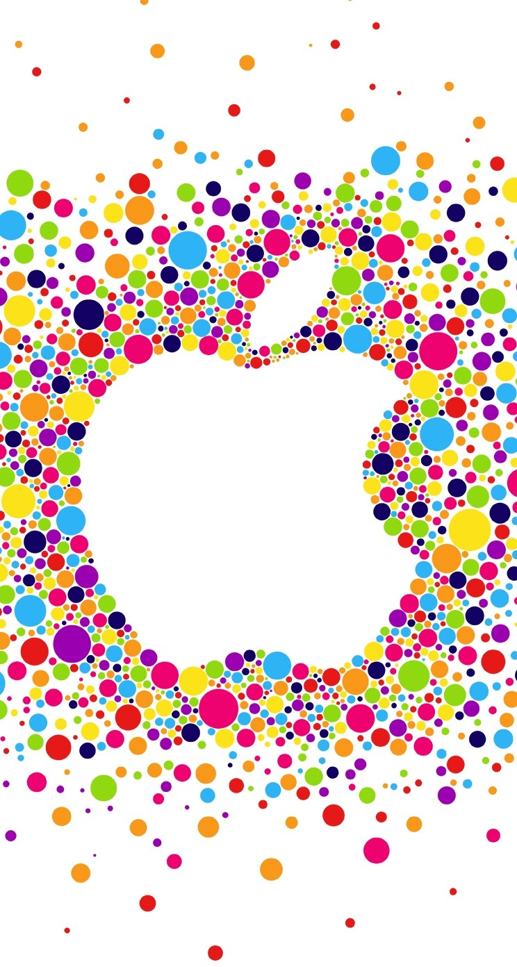 apple logo whatsapp chat wallpaper