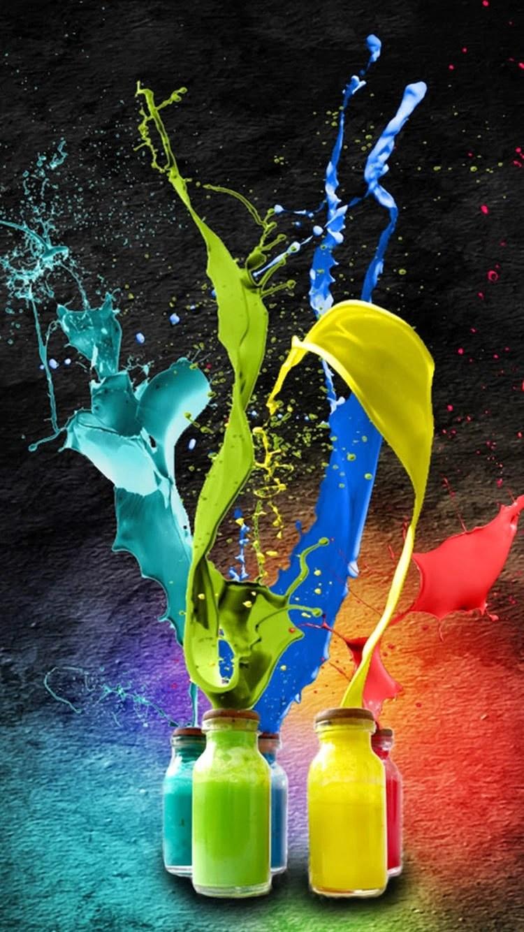 iPhone 6s color splash wallpaper