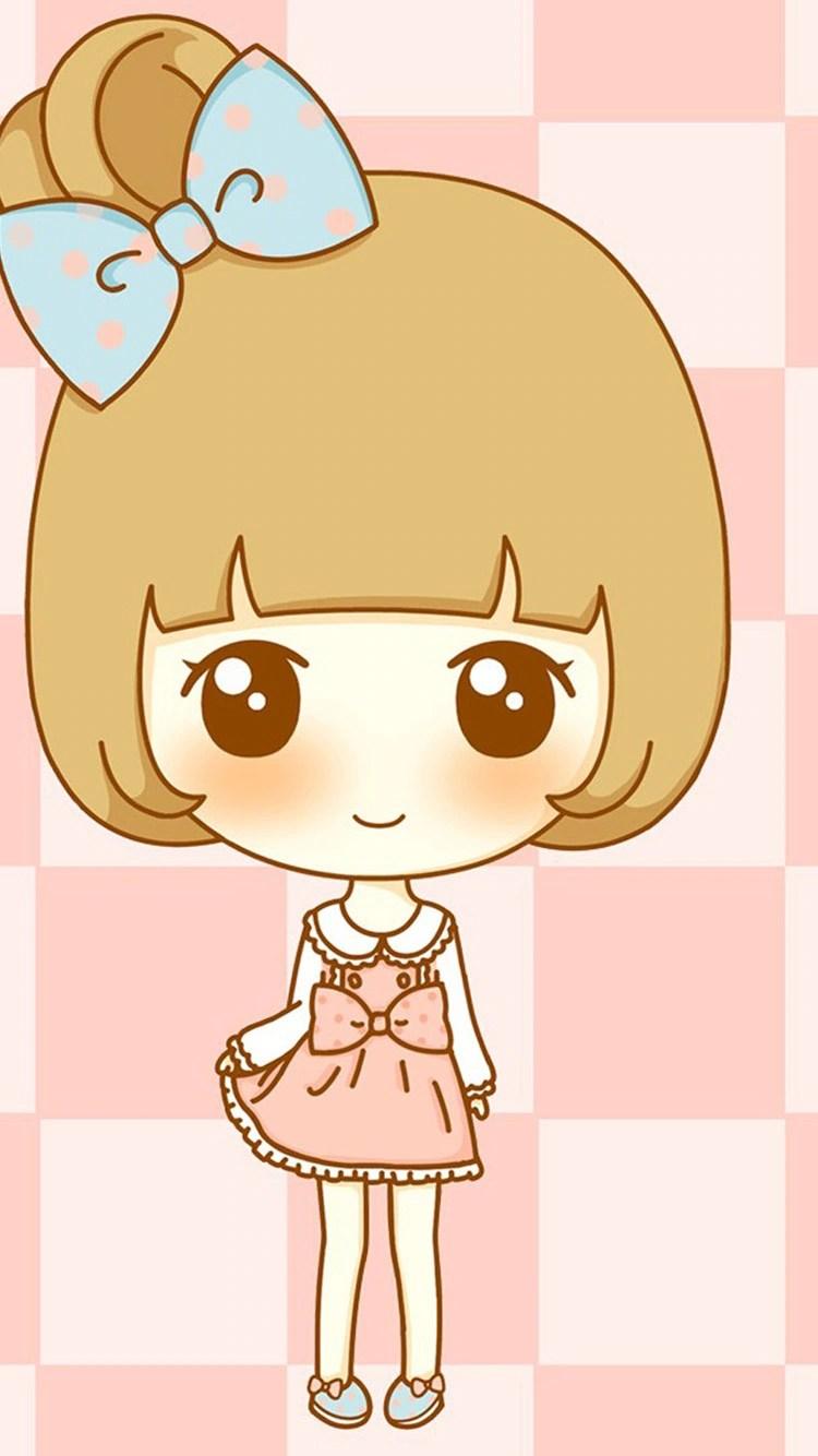 iPhone 7 cute girl cartoon wallpaper