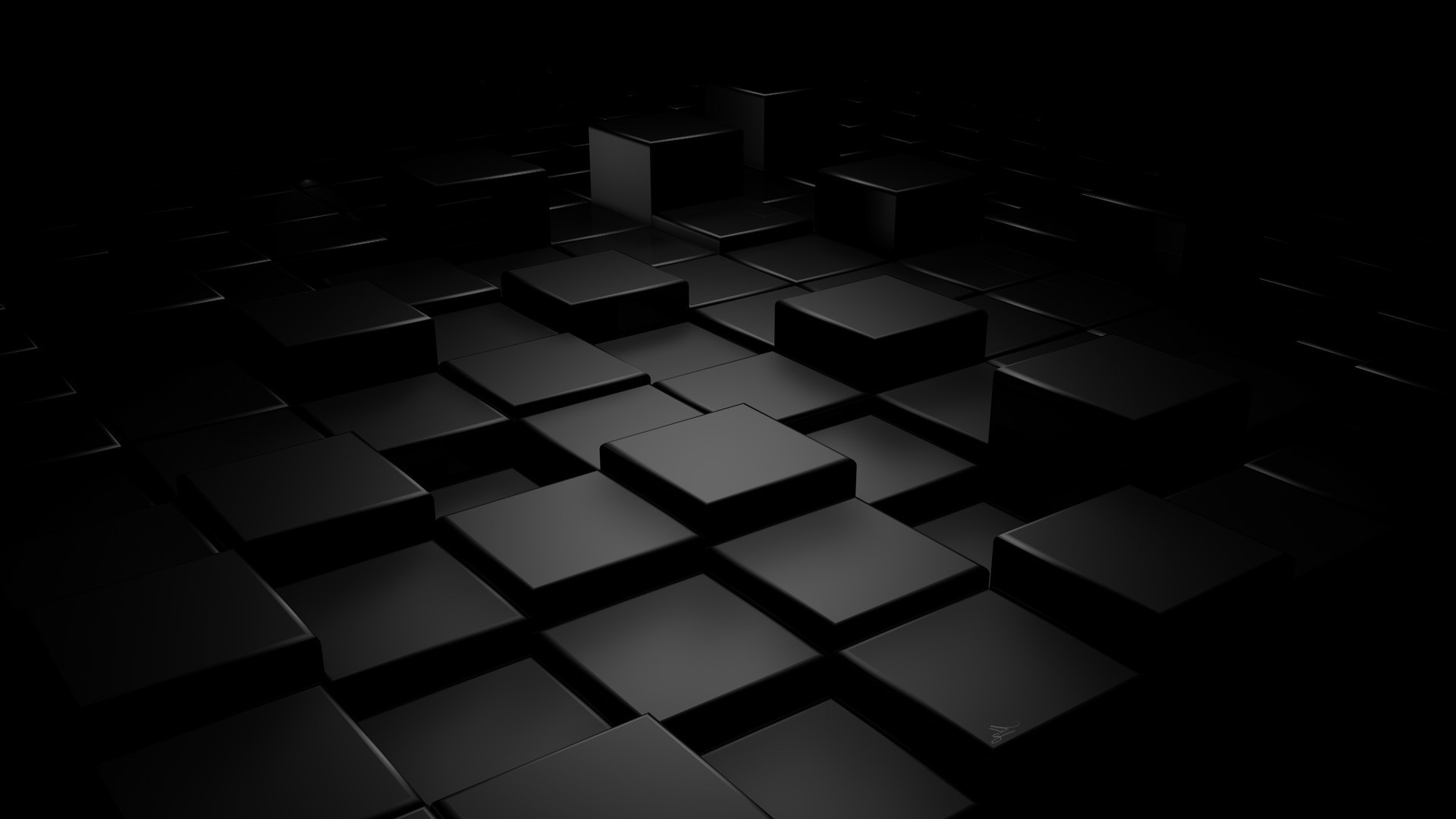 3D Black Wallpaper