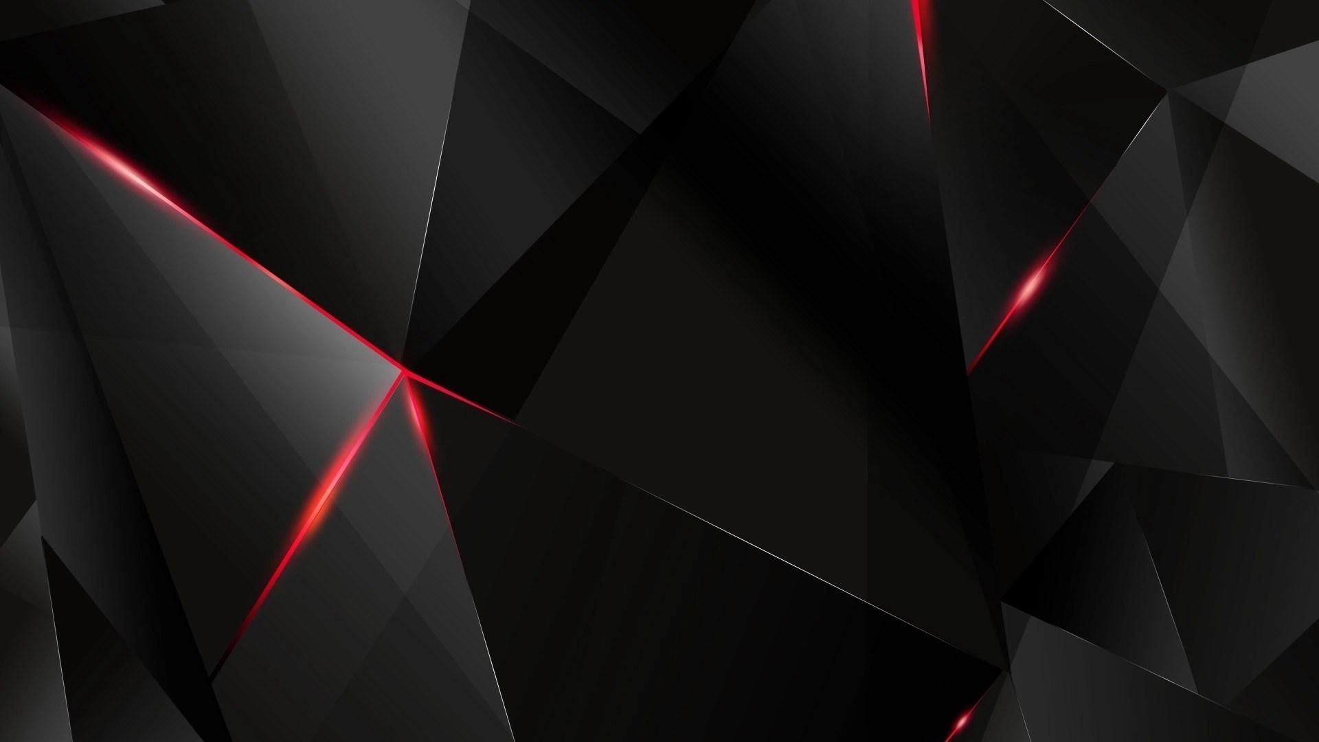 Black Wallpaper wth red 3D effect